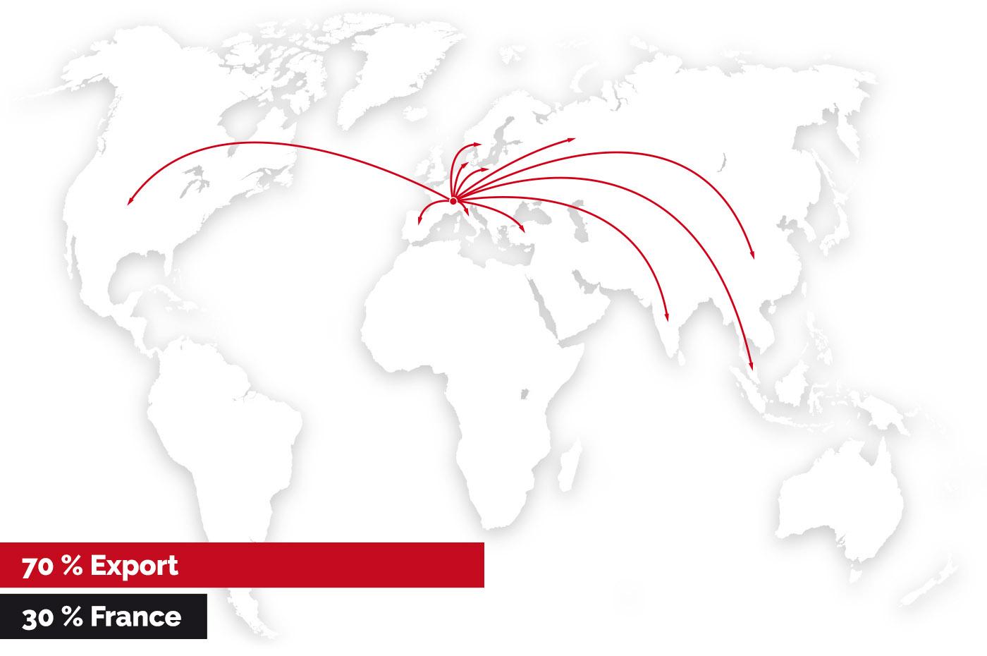 Répartition géographique de nos clients